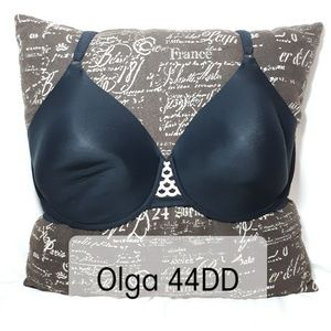Olga Lattice Detail Black Bra